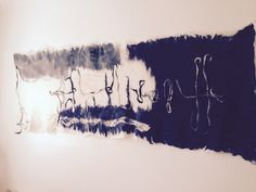"Wall hanging ""Sea Breeze"" by Paola Moro.  Australian Felting Designer. Commissioned by Jody Kahlon Couture."