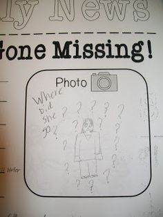 My teacher is missing! {FREE writing prompt for the day you have a sub! Great to leave in the sub tub!} Writing Strategies, Writing Resources, Teaching Writing, Teaching Resources, Writing Ideas, Teaching Ideas, Drawing Activities, Book Activities, Classroom Activities