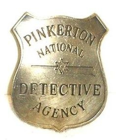 Pinkerton Detective Agency Obsolete Old West Police Badge - http://steampunkstash.com/product/pinkerton-detective-agency-obsolete-old-west-police-badge/ -   #steampunk #victorian #edwardian