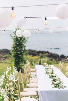 제주도 해밍웨이하우스 비치웨딩 Table Decorations, Beach, Party, Nature, Wedding, Home Decor, Mariage, Homemade Home Decor, Naturaleza