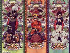 Kakashi , Naruto , Sasuke <3