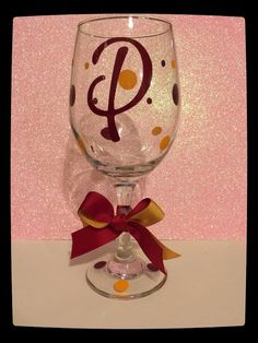 Wine Glass - personalized FSU on Etsy, $10.00