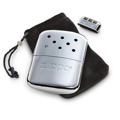 Zippo reusable hand warmers last up to 12 hours and are easily refilled with lighter fluid. #burr  warrenmiller.com