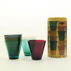 Pack of KARTIO 2744 glasses, Kaj Franck (Nuutajarvi Notsjö, 1955) Shot Glass, Packing, Good Things, Glasses, Antiques, Tableware, Ebay, Vintage, Glass