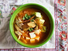 Pressure Cooker Tortilla Soup (Sopa de Tortilla) - Dad Cooks Dinner