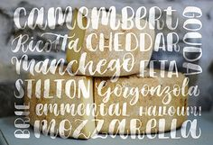 After lettering, food is my biggest love so I'll find any excuse to combine the two. This piece was created purely to celebrate cheese!
