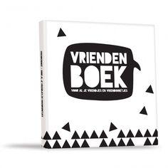 Vriendenboek - Voor al je vriendjes en vriendinnetjes  Zwart wit, zwart-wit, monochrome, vriendenboekje, kids, basisschool, kano, cadeautje, vriendjes, vriendinnetjes