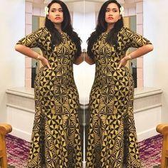 Polynesian dress Follow @queenfressh for more