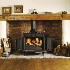 Wood Burning Fireplace Surround Ideas - Brick Fireplace Ideas For Wood Burning Stoves