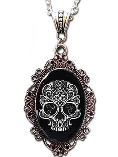 """Swirly Skull"" Cameo by Alkemie Apparel  Yes, please..."