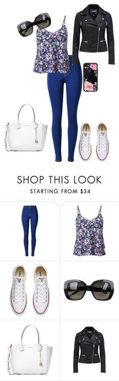 """Untitled #31"" by katepenna ❤ liked on Polyvore featuring Miss Selfridge, Converse, Bottega Veneta, Michael Kors and Casetify"