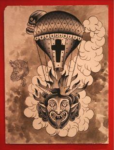 ticopolotatuado:    GORE Traditional Tattoo Design, Traditional Tattoos, Traditional Art, Tattoo Flash, I Tattoo, Creative Inspiration, Tattoo Inspiration, Occult Tattoo, Body Mods