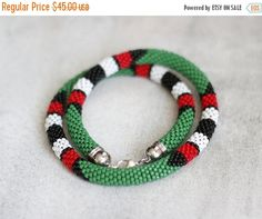 ON SALE Maasai Necklace Muticolor African by HeriniaJewelry