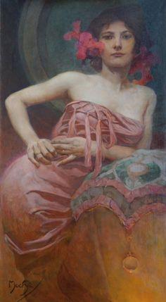 Alphonse Mucha (1860-1939), Portrait of a Lady, n.d.