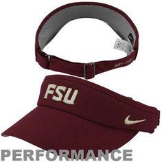 Nike Florida State Seminoles (FSU) Sideline Dri-FIT Adjustable Performance Visor - Garnet - $23.95