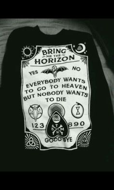 Bring Me The Horizon Merch shirt bring me the horizon awesome band merch ouija board Grunge Goth, Grunge Style, Soft Grunge, Style Indie, My Style, Nu Goth, Nerd Style, Goth Style, Bring Me The Horizon