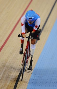 Jaye Milley of Canada competes in the Men's Individual Cycling C1 Pursuit qualification round.  ImagebyGareth Copley / Getty Images