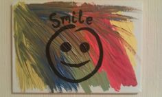 Smile painting on canvas. Multicolored. Just smile :)
