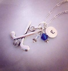 Sporty Girl Golf Hand Stamped Initial Necklace on Etsy, $20.00