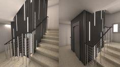 Ideas de #Edificios de #Vestibulo, #Pasillo, estilo #Moderno diseñado por Q:NØ ARQUITECTOS Arquitecto con #Fachada #Barandillas #Iluminacion #En construcción  #CajonDeIdeas