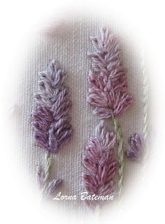 Lavender stitched with lazy daisy stitch!jpg   Flickr - Photo Sharing!