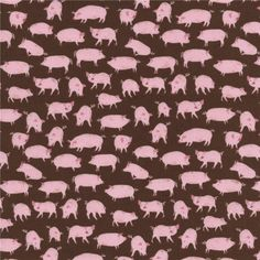Timeless Treasures Little Farm Pigs Brown from @fabricdotcom  Designed for Timeless Treasures, this cotton print fabric is perfect for quilting, apparel and home decor accents. Colors include shades of pink and brown.