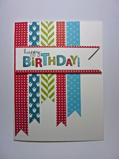 from Joan's Daily Stampede--uses Stampin Up's Summer Smooches designer series paper