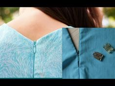 In this video i will show you How to install invisible zipper in just 5 mins DIY (Another easy method) You may also like to watch:- How to make off the shoul. Back Neck Designs, Kurti Neck Designs, Blouse Designs, Corsage, Sewing Hacks, Sewing Tutorials, Zipper Tutorial, Diy Tutorial, Baby Dress Tutorials