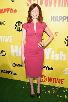 Carrie Preston at the Showtime Networks premiere of HAPPYish | Hair by Travisean Haynes