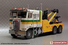 Kenworth Homes Wrecker Big Rig Trucks, Toy Trucks, Lego Technic, Lego Truck, Lego Car, Plastic Model Kits, Plastic Models, Mercedes Logo, Model Truck Kits