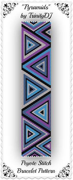 BPGEO006 Pyramids Peyote Cuff/Bracelet PATTERN One par TrinityDJ