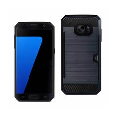 Reiko Samsung Galaxy S7 Slim Armor Hybrid Case Navy With Card Holder