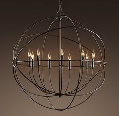 Restoration Hardware: FOUCAULT'S IRON ORB CHANDELIER LARGE