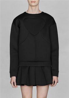 & OTHER STORIES ny svart SCUBA PULLOVER neoprene tröja/jacka på Tradera.