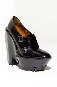 Wow.  Back in my twenties, I might have. //  Double monk strap wedge pump by Burberry.