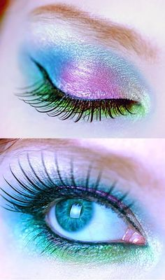 I love this iridescent pastel eyeshadow, so springtime perfect!