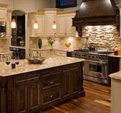 pic of rustic kitchen backsplash tile ideas design