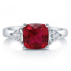 #Berricle                 #ring                     #Cushion #Ruby #Cubic #Zirconia #Sterling #Silver #3-Stone #Ring #2.94 ##r681                           Cushion Cut Ruby Cubic Zirconia Sterling Silver 3-Stone Ring 2.94 Ct #r681                              http://www.seapai.com/product.aspx?PID=1263247