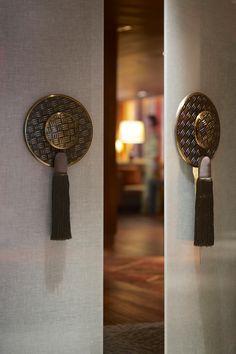 Custom designed door handles at Horizon Club Lounge