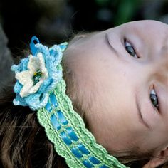 Crochet Tie on Headband with Flower - PDF PATTERN