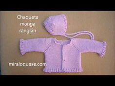 miraloque.com/chaqueta-blanqui Cardigan Bebe, Knitted Baby Cardigan, Knit Baby Sweaters, Cardigan Pattern, Pull Bebe, Baby On The Way, Knit Patterns, Baby Hats, Baby Knitting