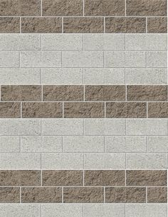 Painted cement block walls... just paint the grout a medium color ...