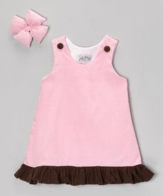 Take a look at this Light Pink Corduroy Jumper & Clip - Infant, Toddler & Girl by Molly Pop Inc. on today! Baby Sewing, Infant Toddler, Toddler Girls, Corduroy, Jumper, Girl Outfits, Summer Dresses, Clothes, Bow Clip