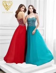 Gorgeous strapless prom gown that features a beaded bodice