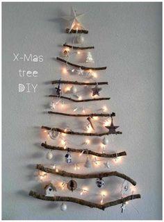 Zelfgemaakte kerstboom DIY