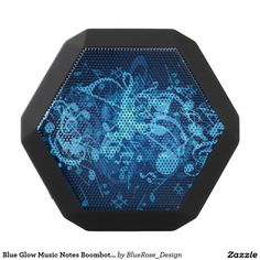 Blue Glow Music Notes Boombot Rex Bluetooth Speaker