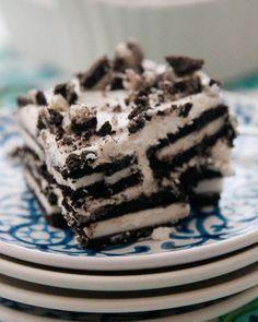 Oreo Icebox Cake.