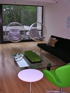 The Bubble Chair was designed by Eero Aarnio in 1968