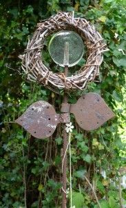 Deko mit stacheldraht for the home inspiration au en for Glasvase bepflanzen