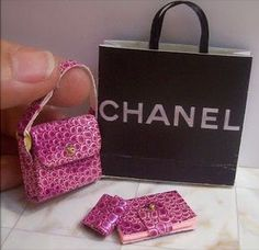 Miniature designer handbags